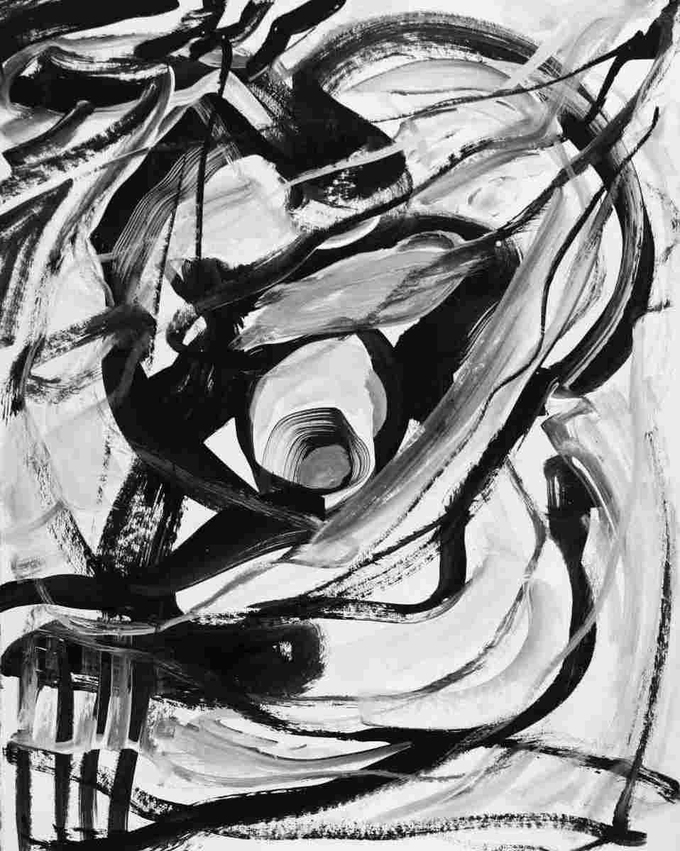Black and White 2- Acryl auf Karton 40x50
