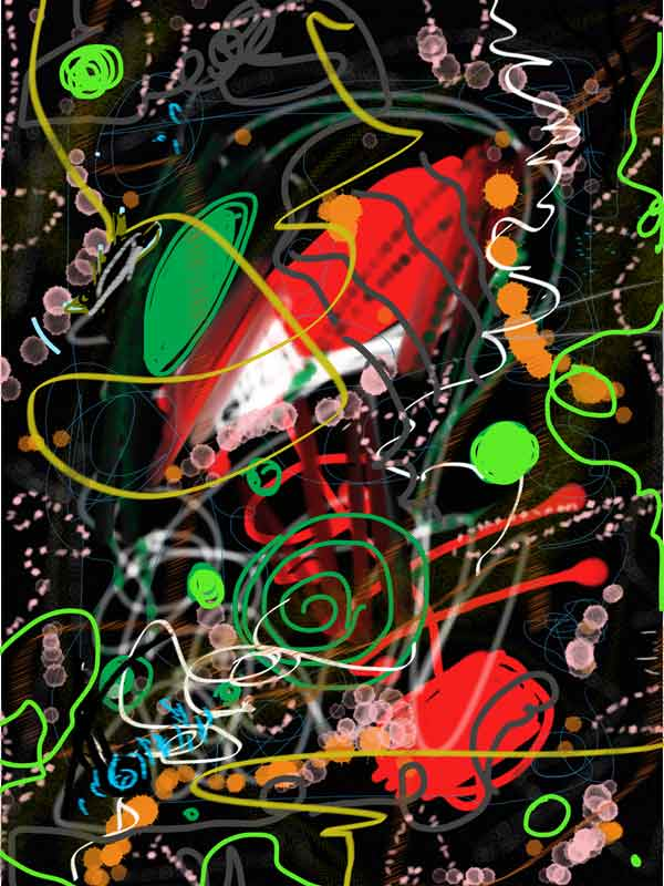 Digitale Malerei iPad ohne Titel I © Birgit Busch