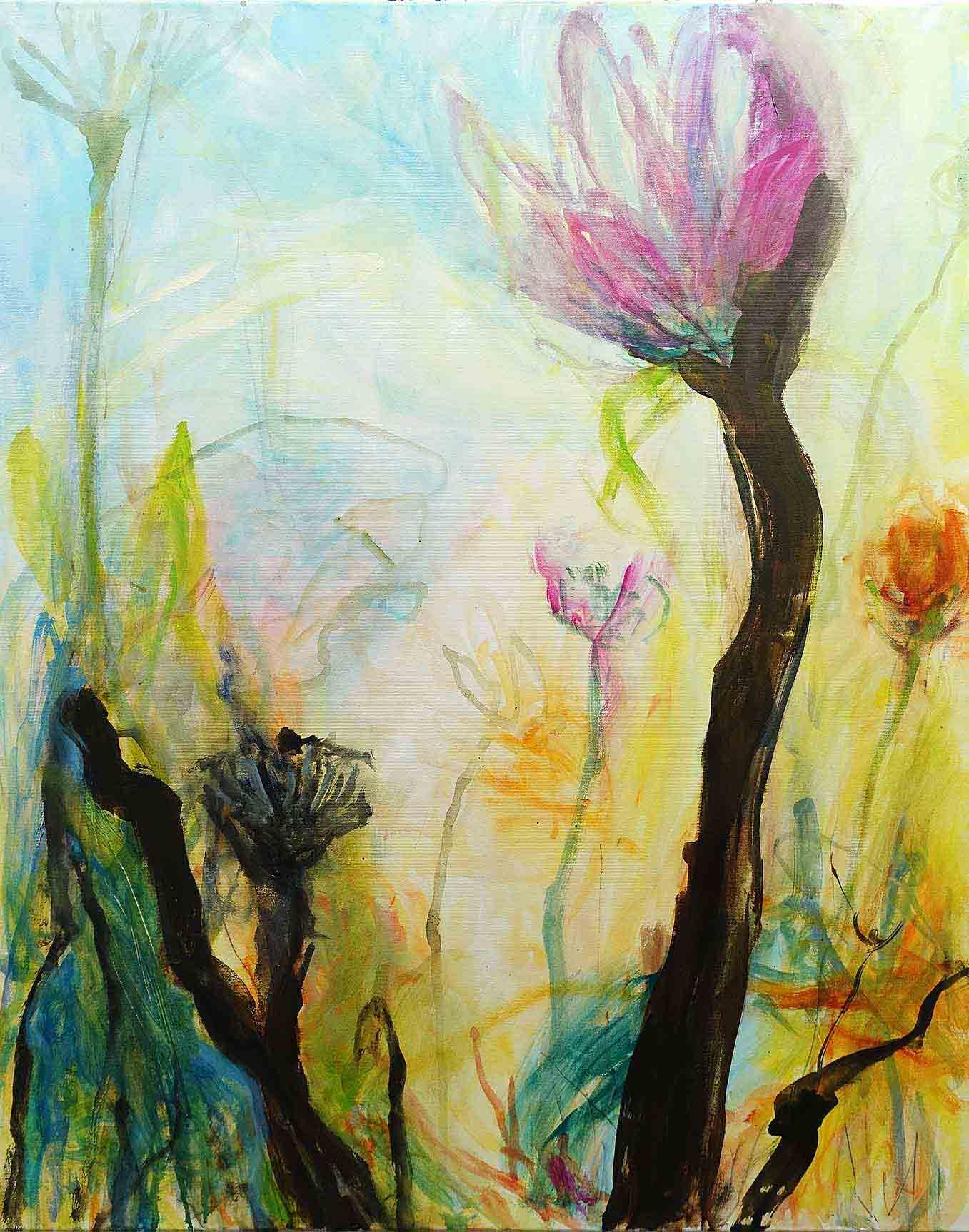 Natur 2- Acryl auf Leinwand 80x 100