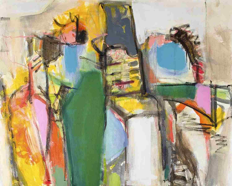 Abstrake Kunst auf Leinwand 4